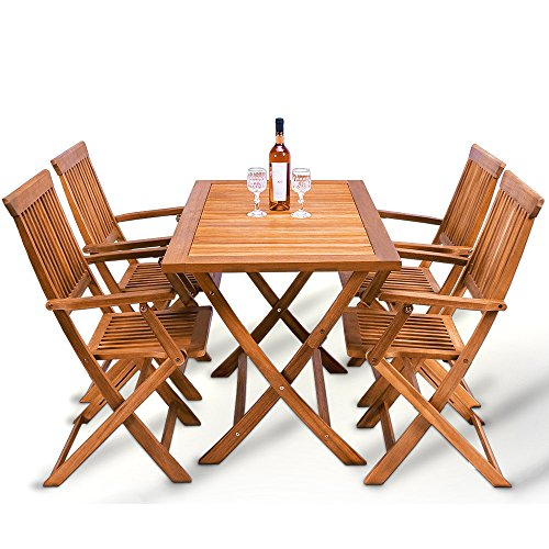 Wooden Garden Furniture Set Patio Dining Table And Chairs Set Sydney Made Of Tropical Solid